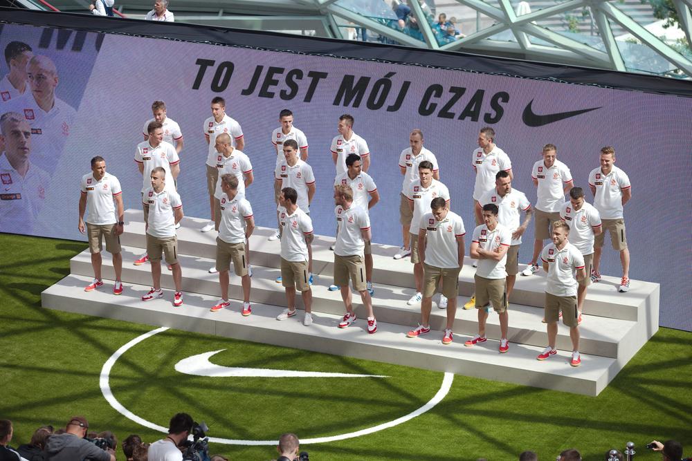 Nike Football Stadium Hosts Polish National Team