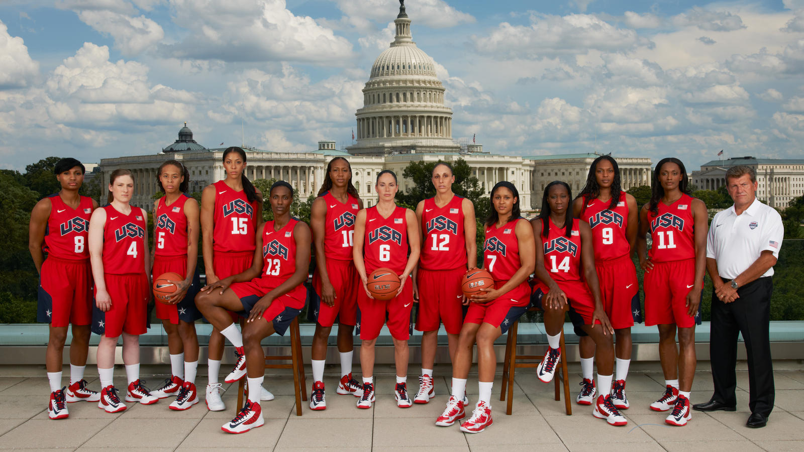 USA Men's and Women's Basketball Teams Photographed at ...
