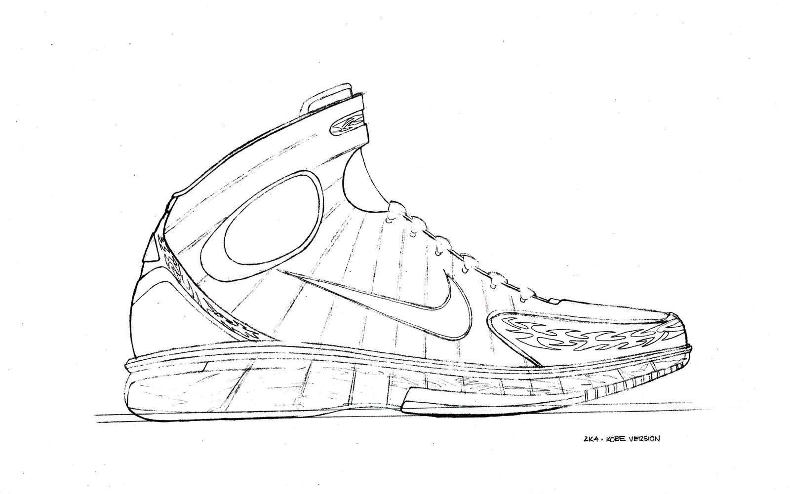 Tennis shoes coloring pages - Beautiful Jordan Shoes Coloring Pages With Michael Jordan Coloring