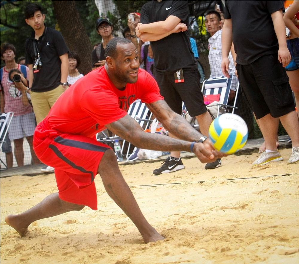 LeBron James joins the action at Nike+ Festival of Sport 2012