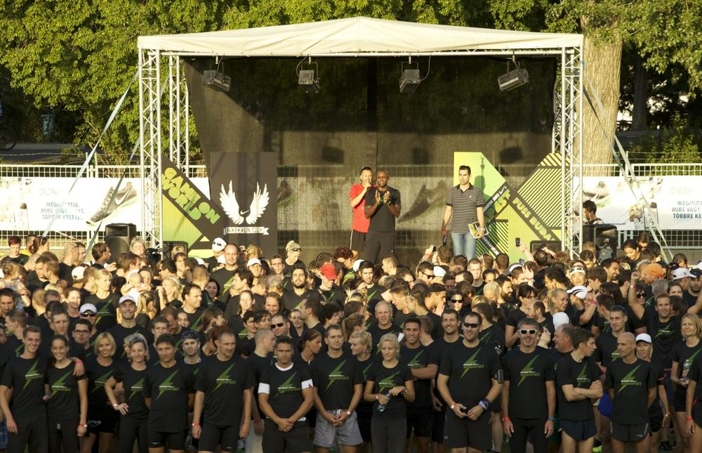 Carl Lewis hosts Nike Run Club sessions in Budapest and Prague
