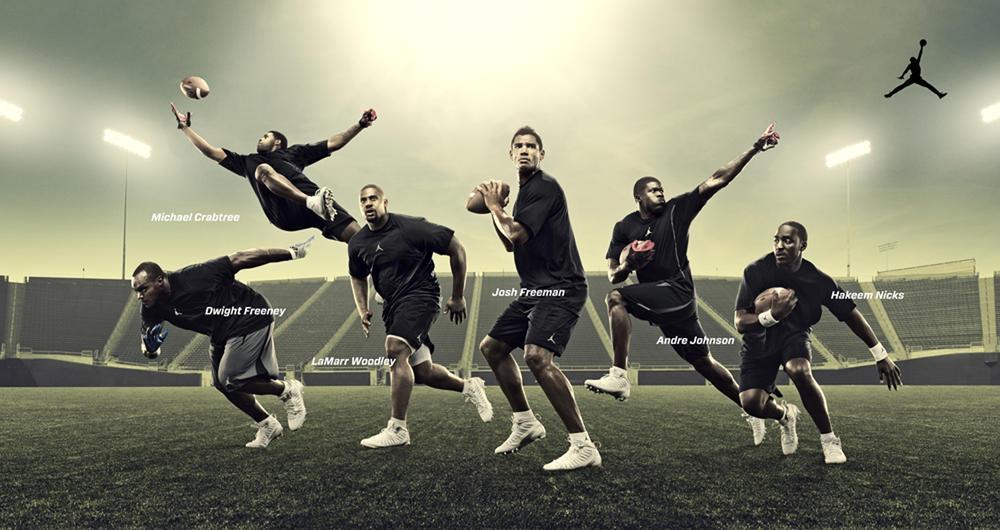 Team Jordan Football Athletes Kick Off The Season in Jordan Super.Fly Cleats