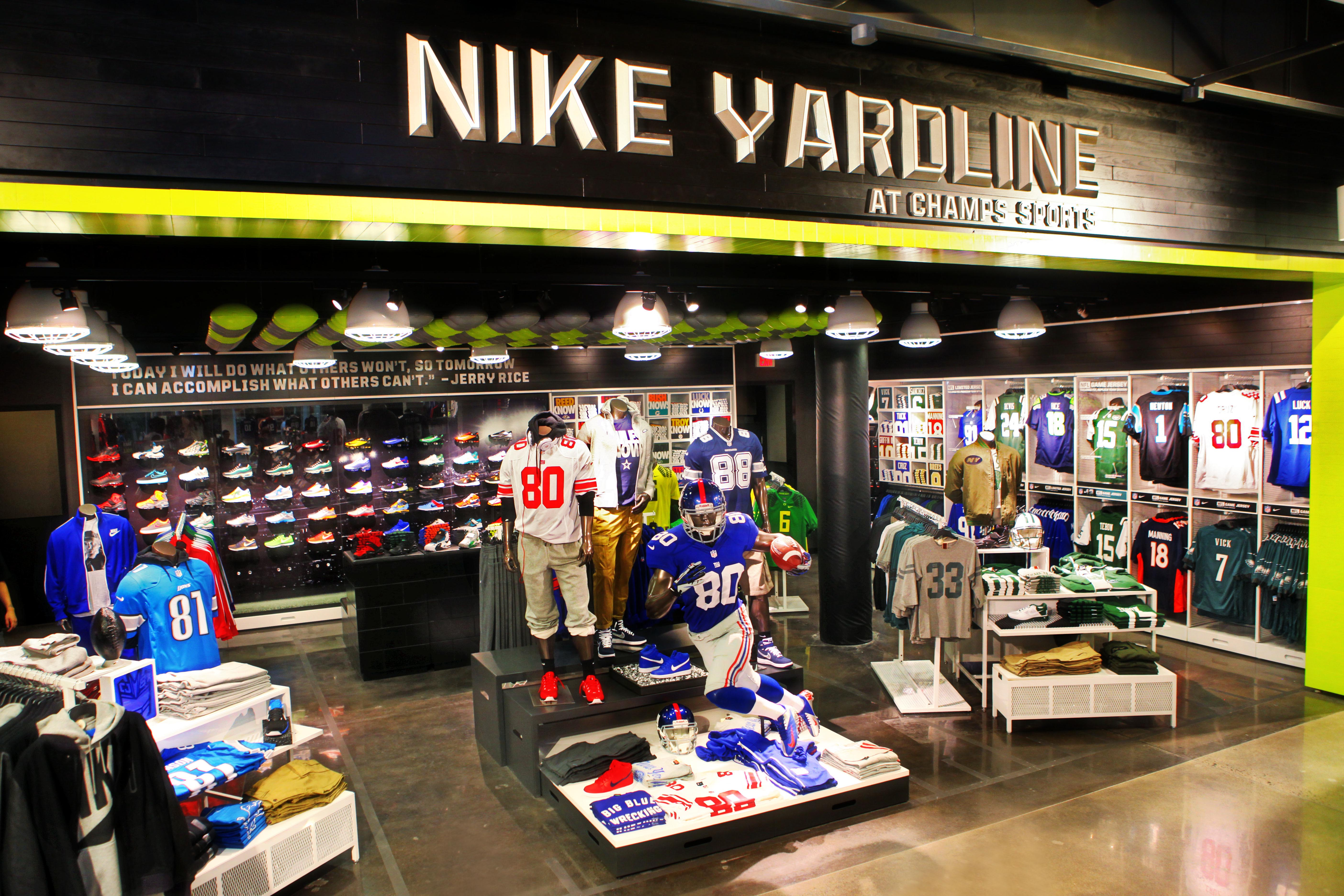 Nike and champs launch first ever football retail Americas best storage