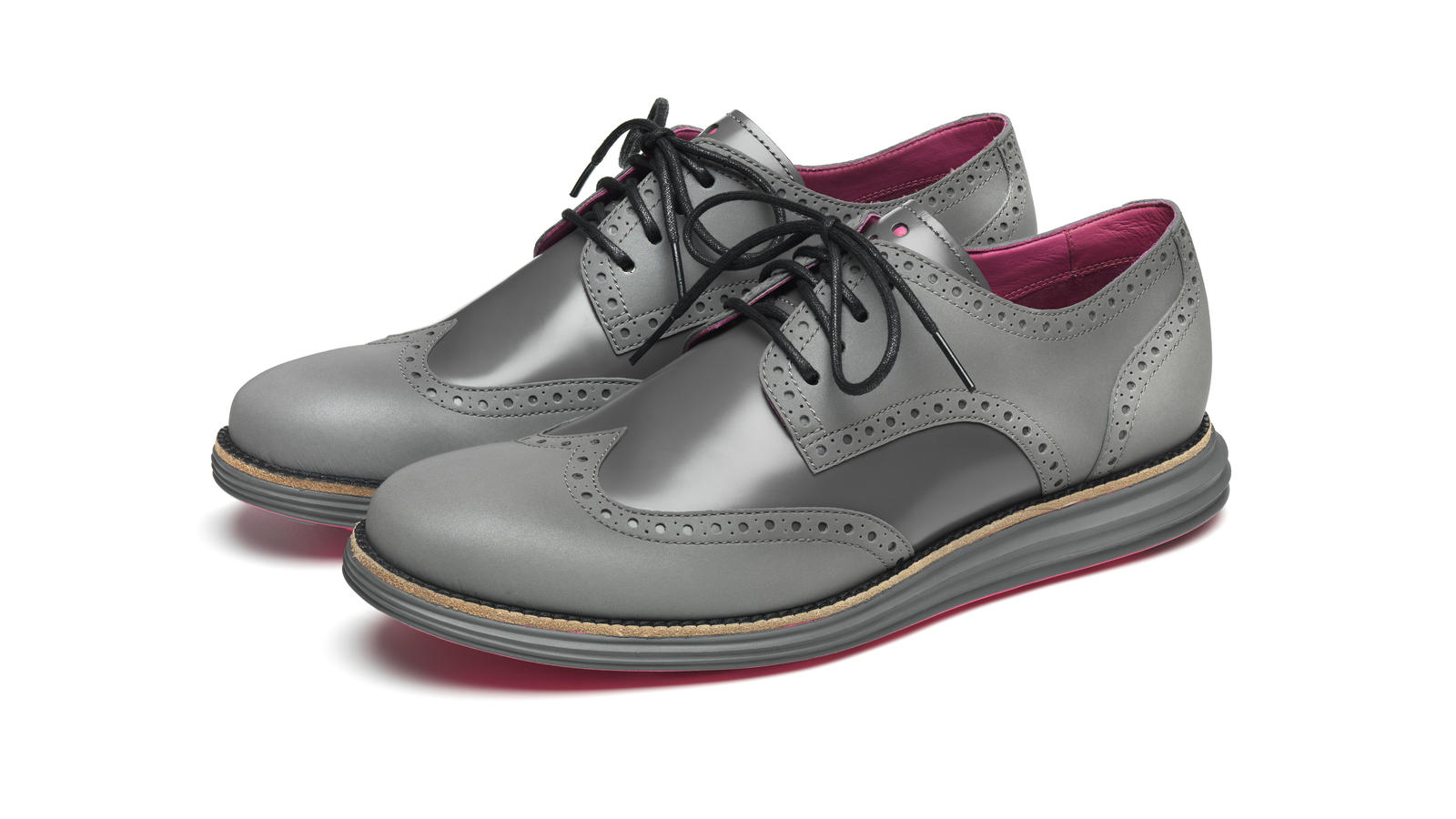Cole Haan's Waterproof and Reflective Wingtips. Share Image