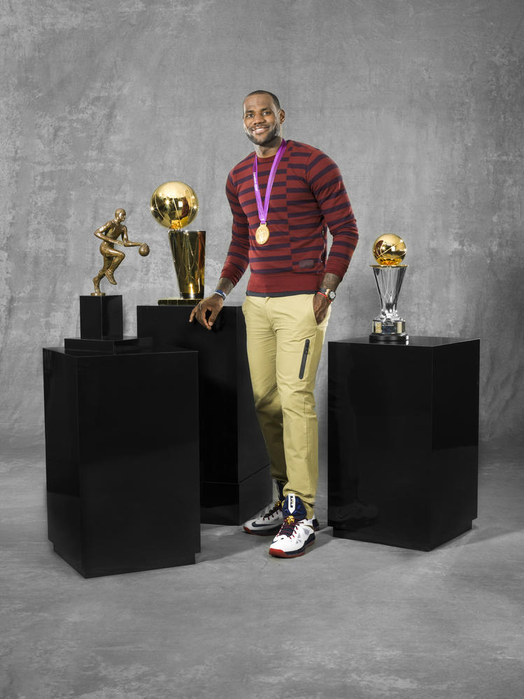 LeBron James showcases historic awards haul
