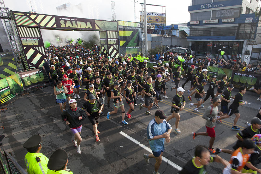 8,000 runners join Nike We Run 10K race in Quito