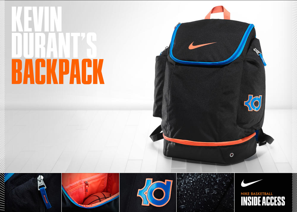 Inside Access: Kevin Durant's backpack revealed