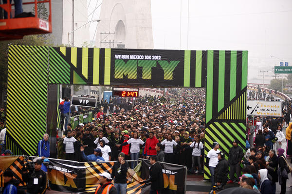 Nike We Run 10K arrives in México; 5,000 runners race in Monterrey
