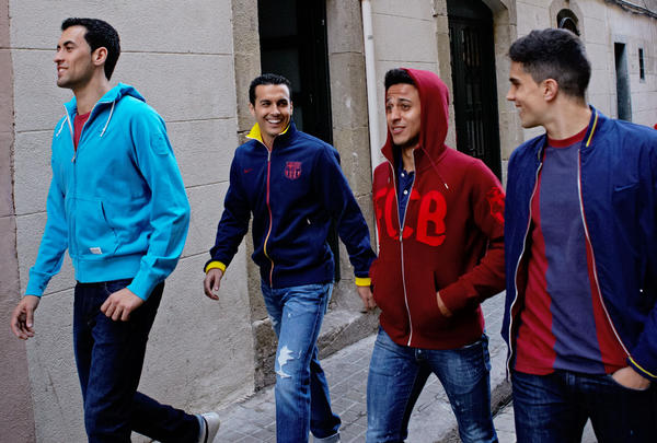 FC Barcelona stars come out to play in Nike Sportswear collection