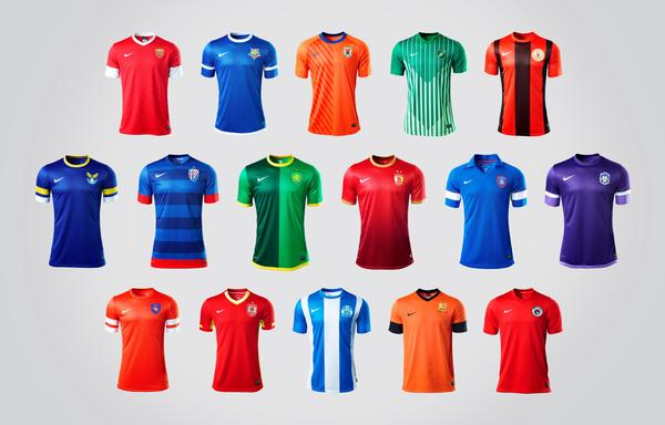 Nike China Football Super League Team Kits feature heritage-rich designs