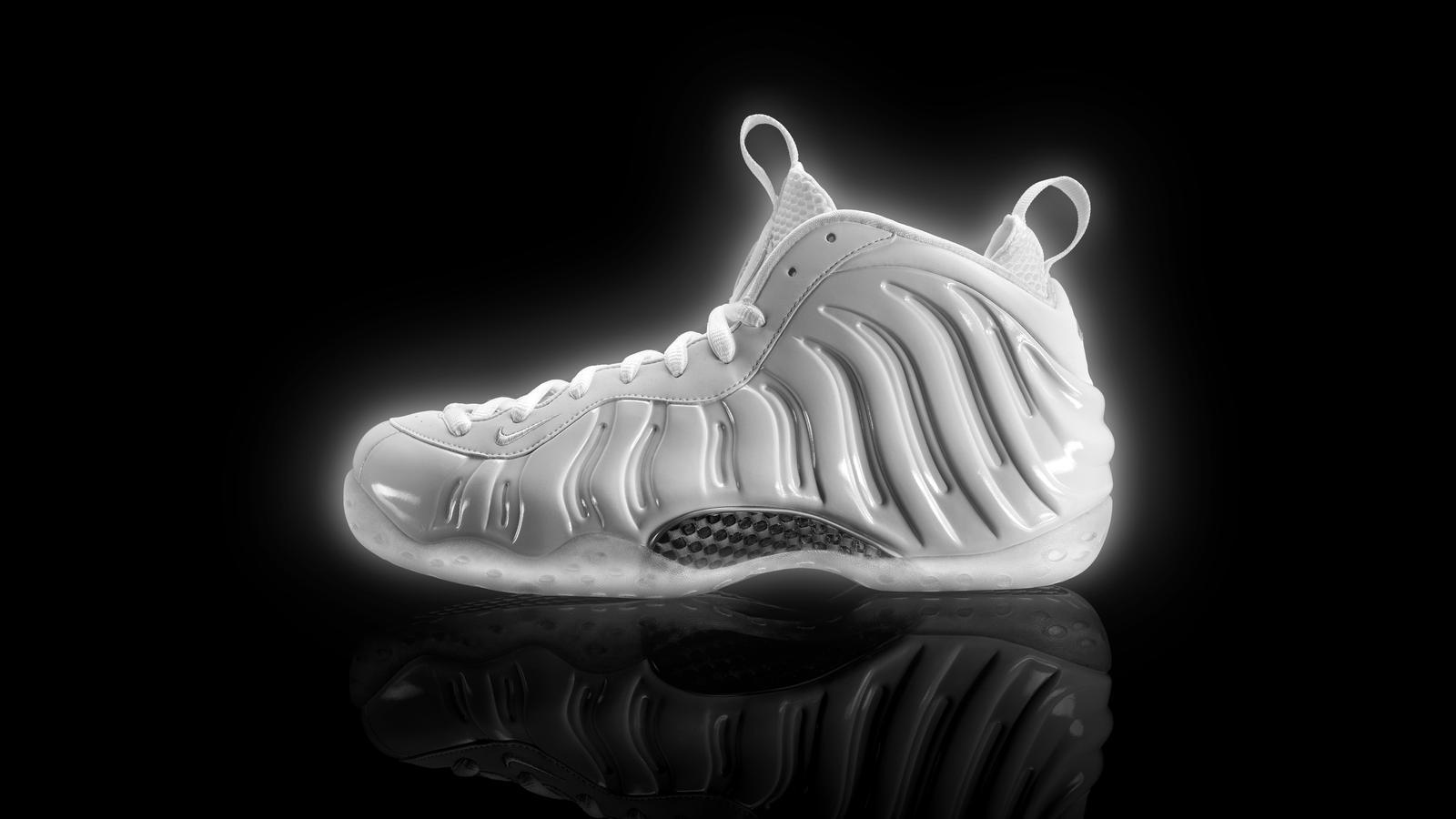 Pure Radiance: White Nike Foamposite
