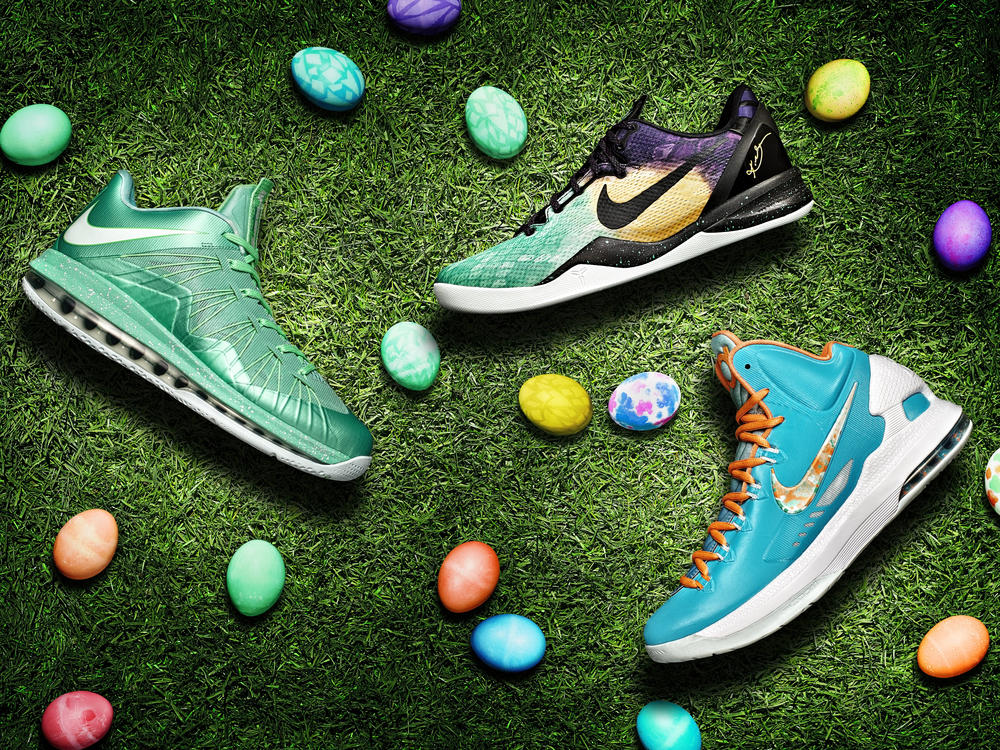 LEBRON X LOW, KOBE 8 SYSTEM and KD V get dipped and painted for Easter