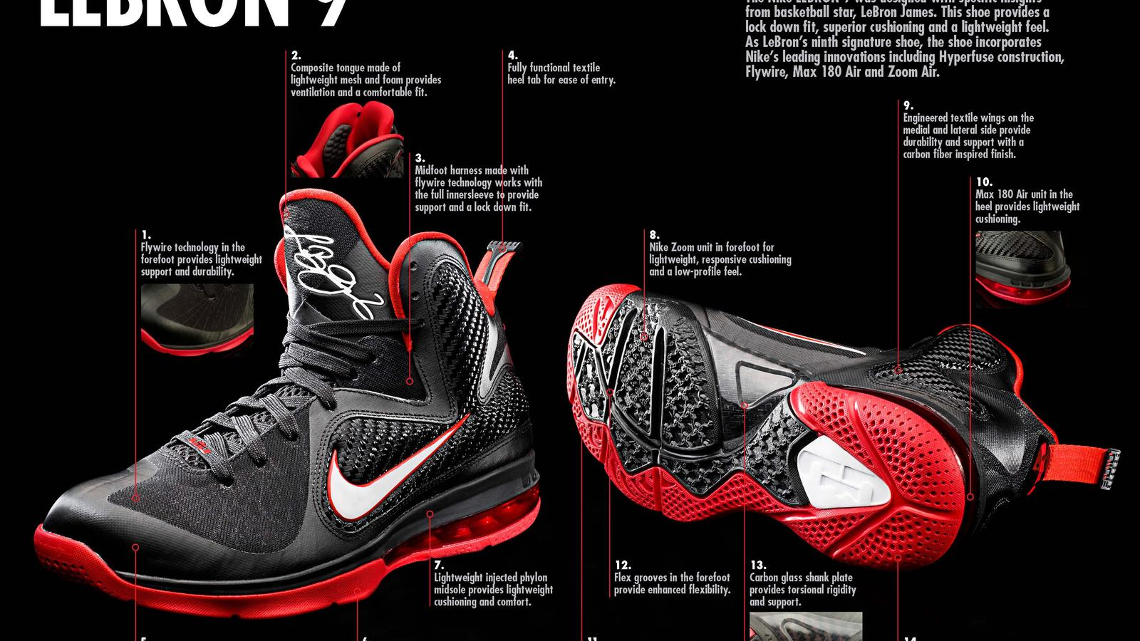 Lebron Nike Basketball 9 The Innovation Defines Performance With wvmnN80