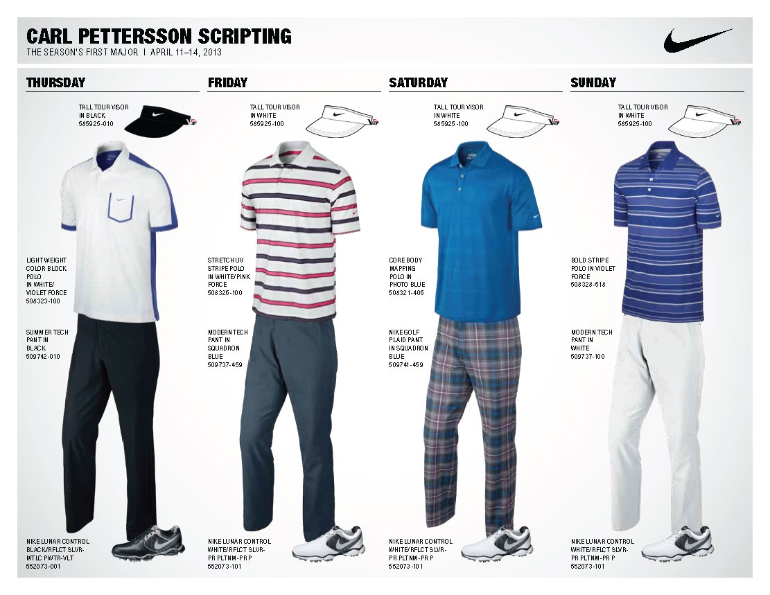 Nike Golf Unveils Athlete Looks for First Major ...