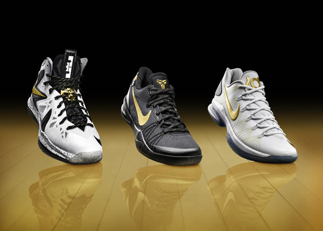 reputable site 699c5 7918e Group shot large. With the playoffs promising gold, Nike Basketball unveils  ...