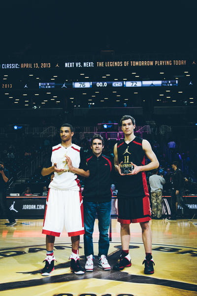 Jamal Murray and Lorvo Mazalin MVPs of the Jordan Brand Classic International Game
