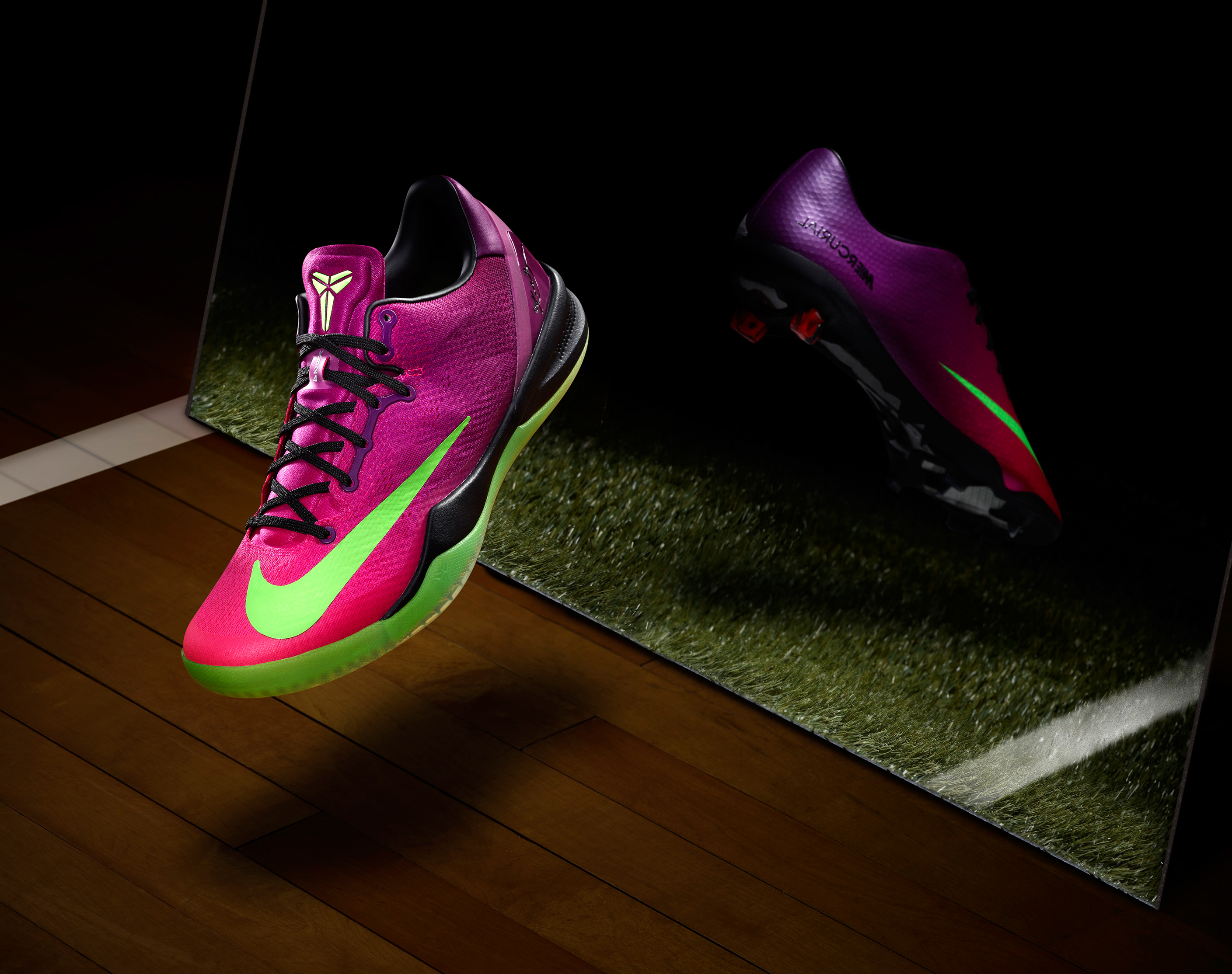 neon training shoes pink football shoes nike
