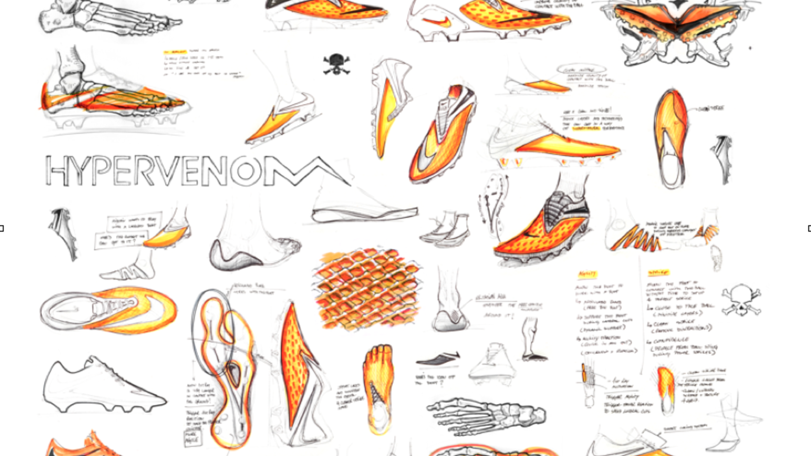 Nike Hypervenom design sketches