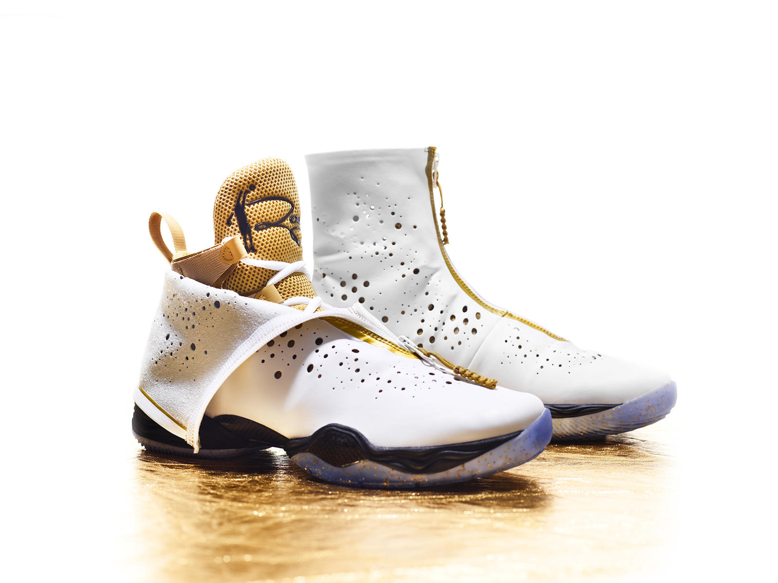 Gold Basketball Shoes