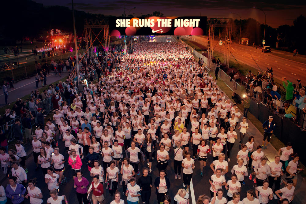 Nike She Runs the Night Marks Biggest Women-only 5K in Poland