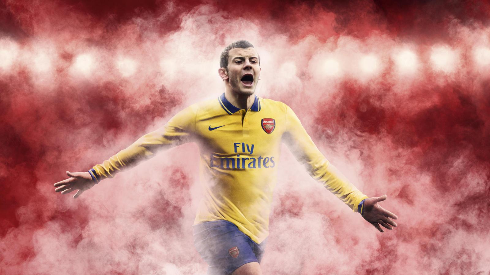 Jack Wilshere in new Arsenal Away Shirt 2013-14