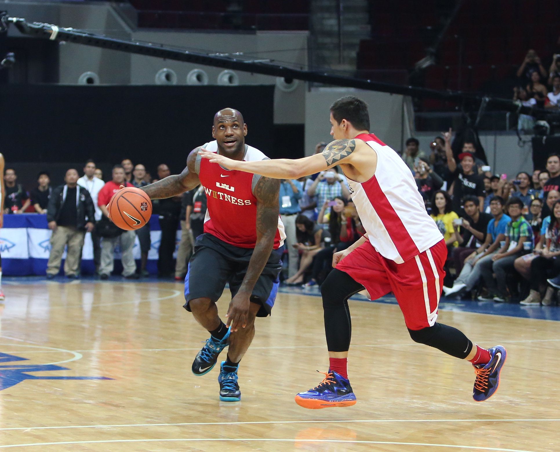 LeBron James Visits Philippines for First Time on Nike Basketball Tour.  Download Image: LO · HI