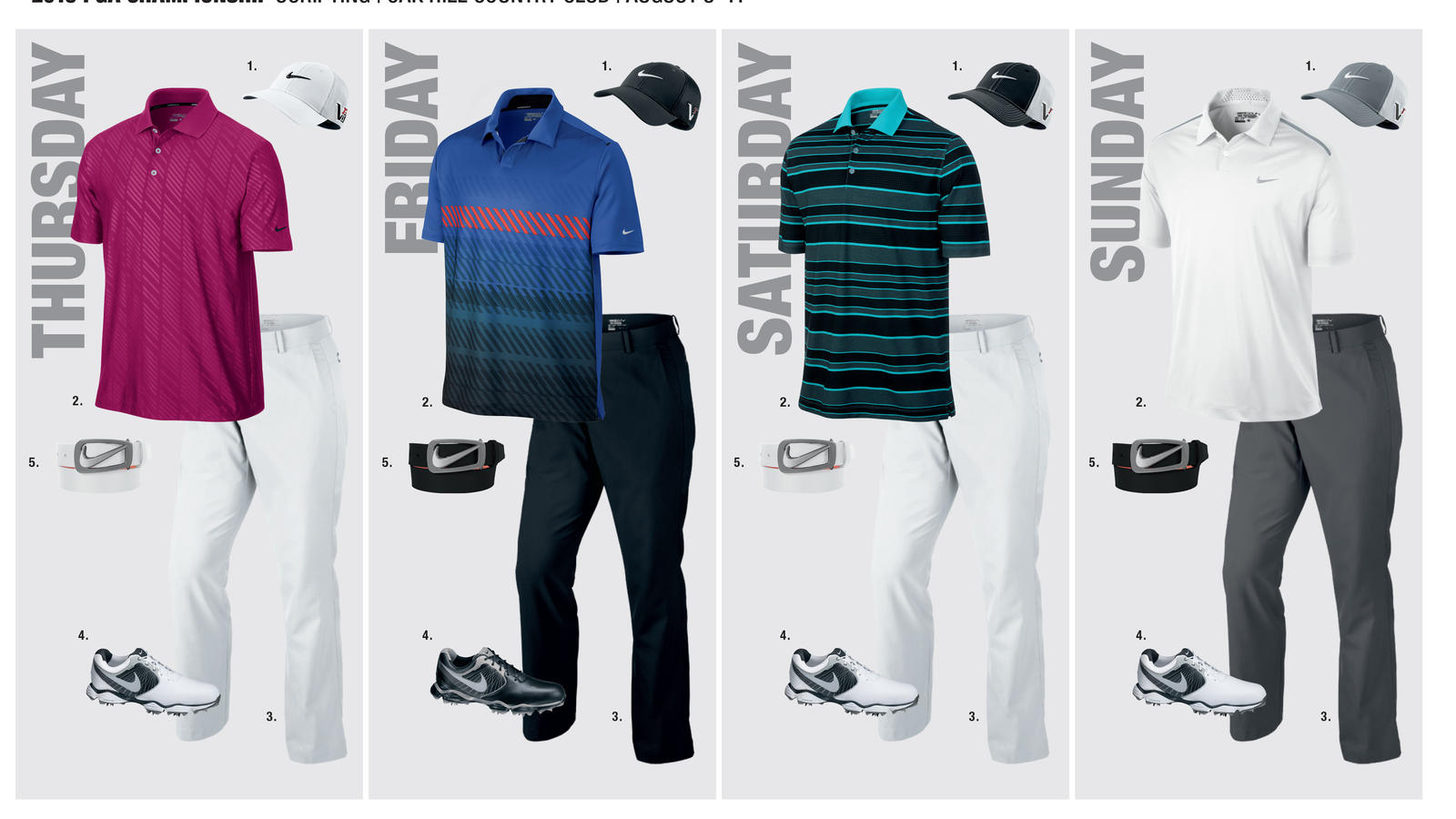 8892efb5e Nike Athletes will Keep Cool with Bold, Breathable Apparel at PGA ...