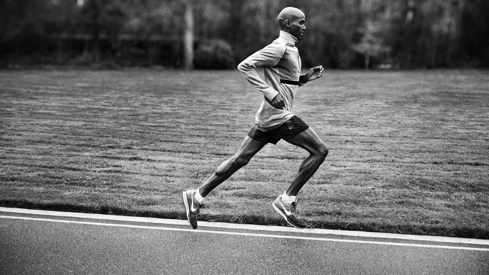 Mo Farah in the Nike Air Pegasus+ 30