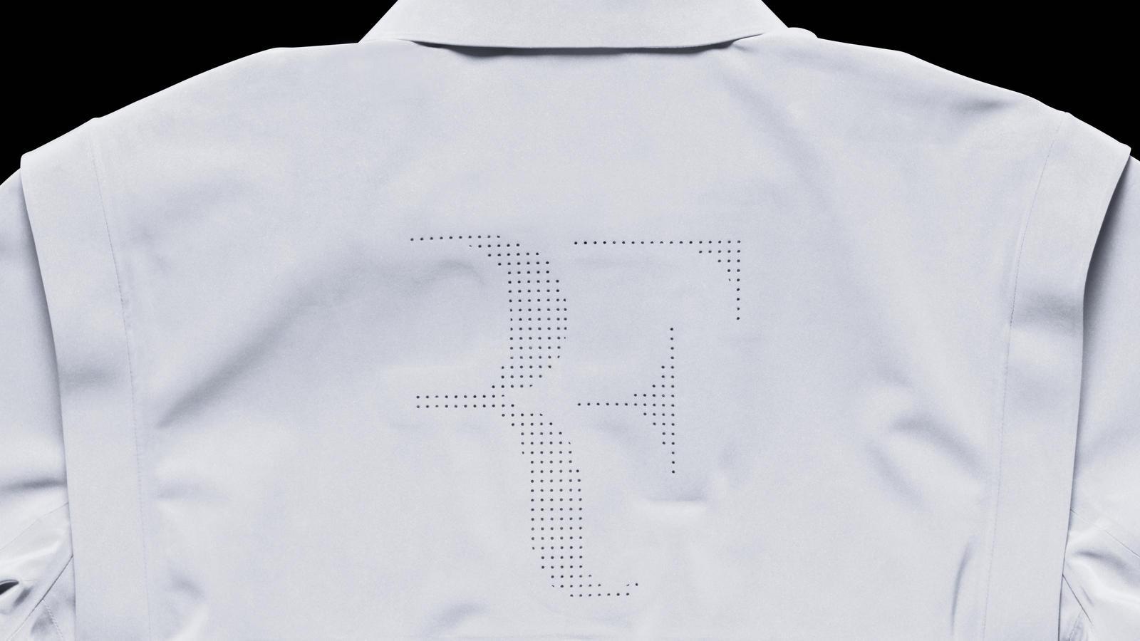 Nike Tennis Vapor Flash Roger Federer Jacket Back Detail (with flash)