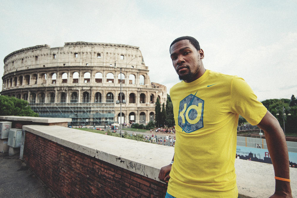 KEVIN DURANT EUROPEAN TOUR: DAY THREE IN ITALY