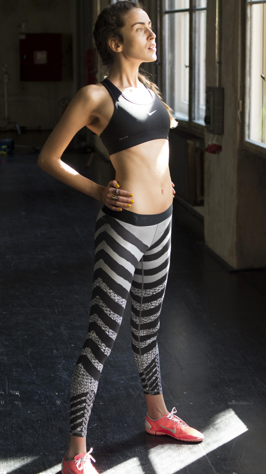 Show Your Stripes with the Zebra Knit Nike Women's Tight