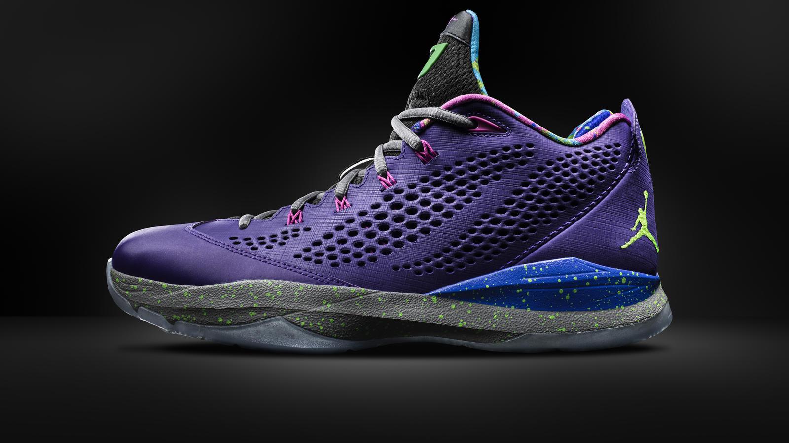 super popular c6e9d c73b4 Jordan CP3.VII Court Purple - Lateral View