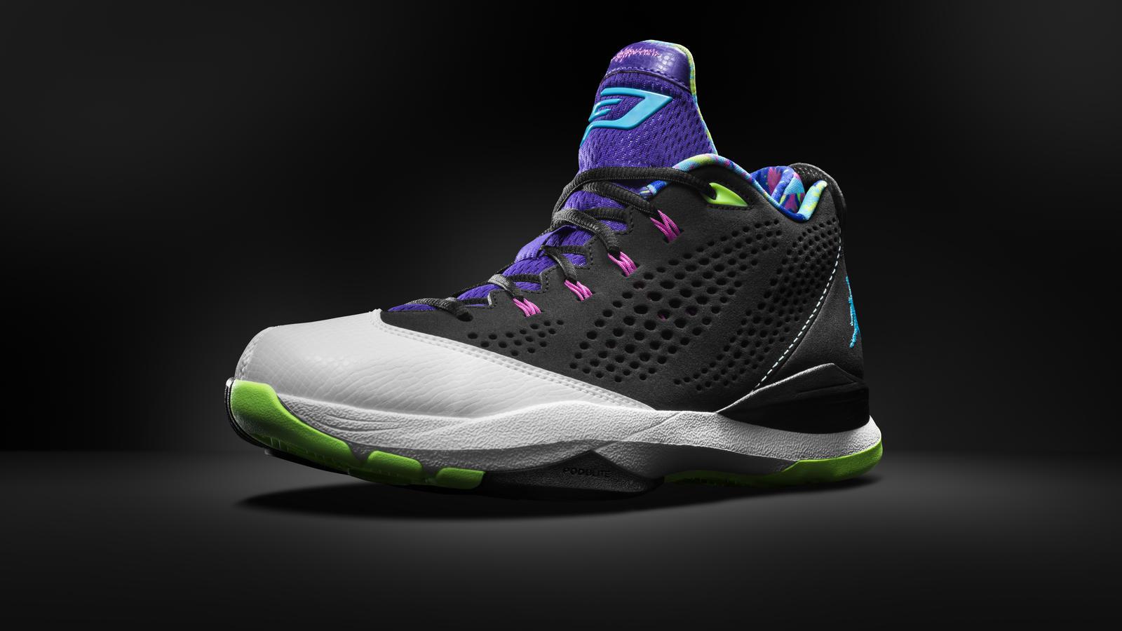 Jordan CP3.VII Black/White-Flash Lime