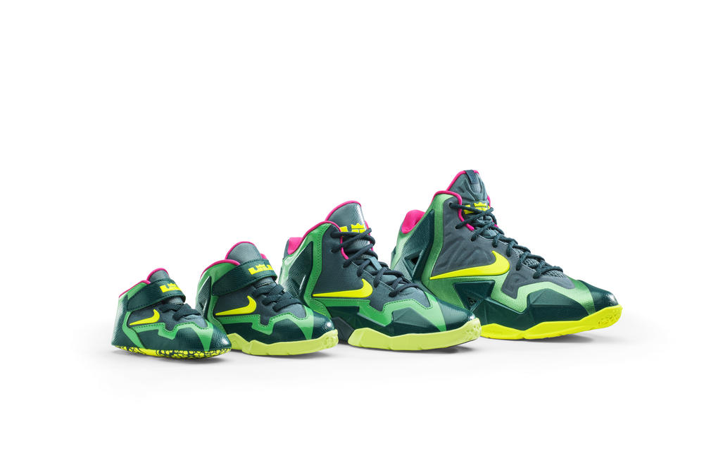 LEBRON 11 T-Rex Colorway: Big Inspiration for Smaller Feet