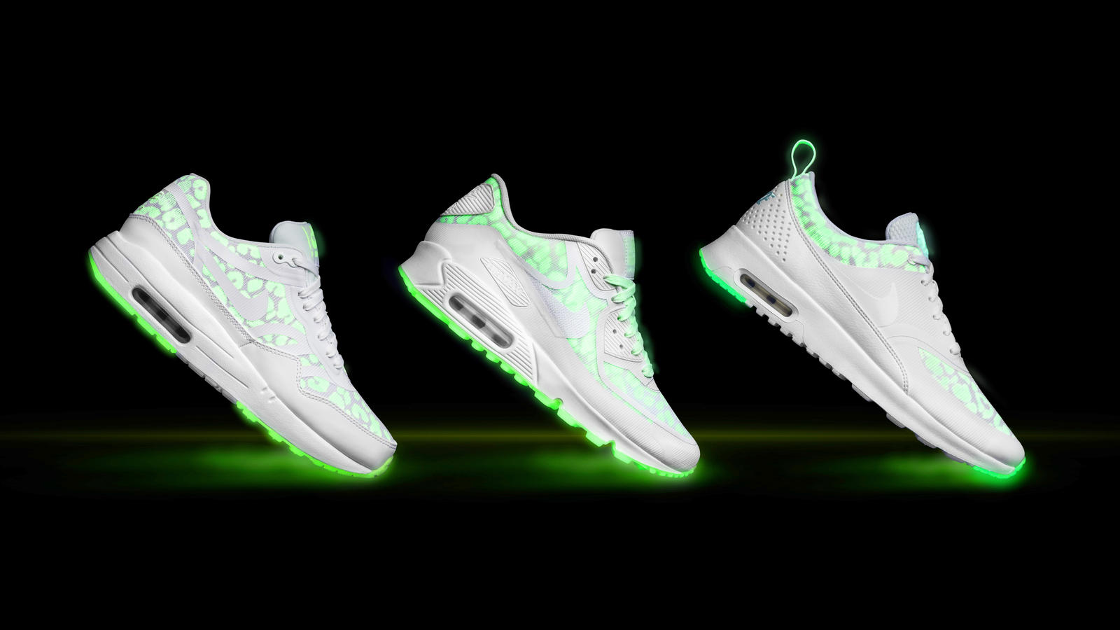 Mens Air Max 87 Glow in the Dark Black