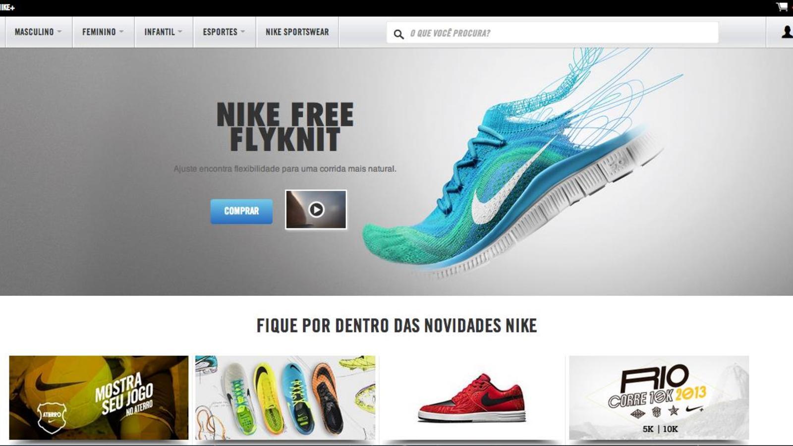 142b4198376 Nike estreia sua loja online no Brasil - Nike News