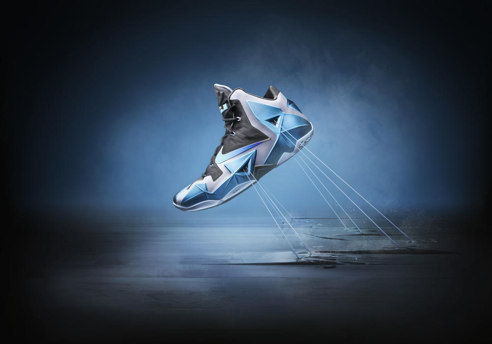 LEBRON 11 Gamma Blue: Heat Treated For Toughness