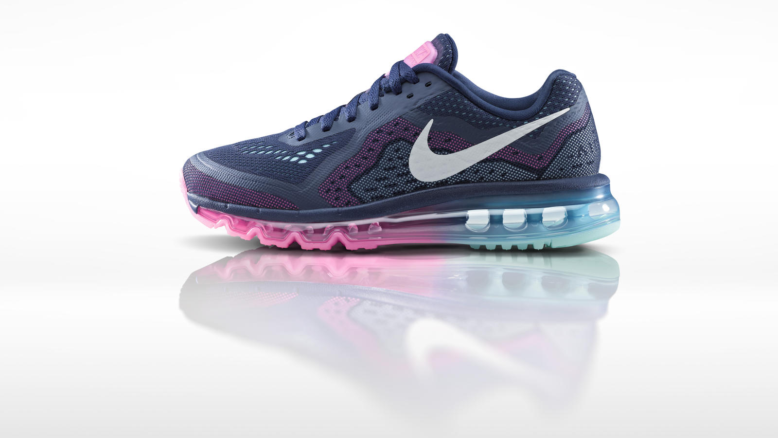 nike flyknit air max 2014 uomo running scarpe grey-purple