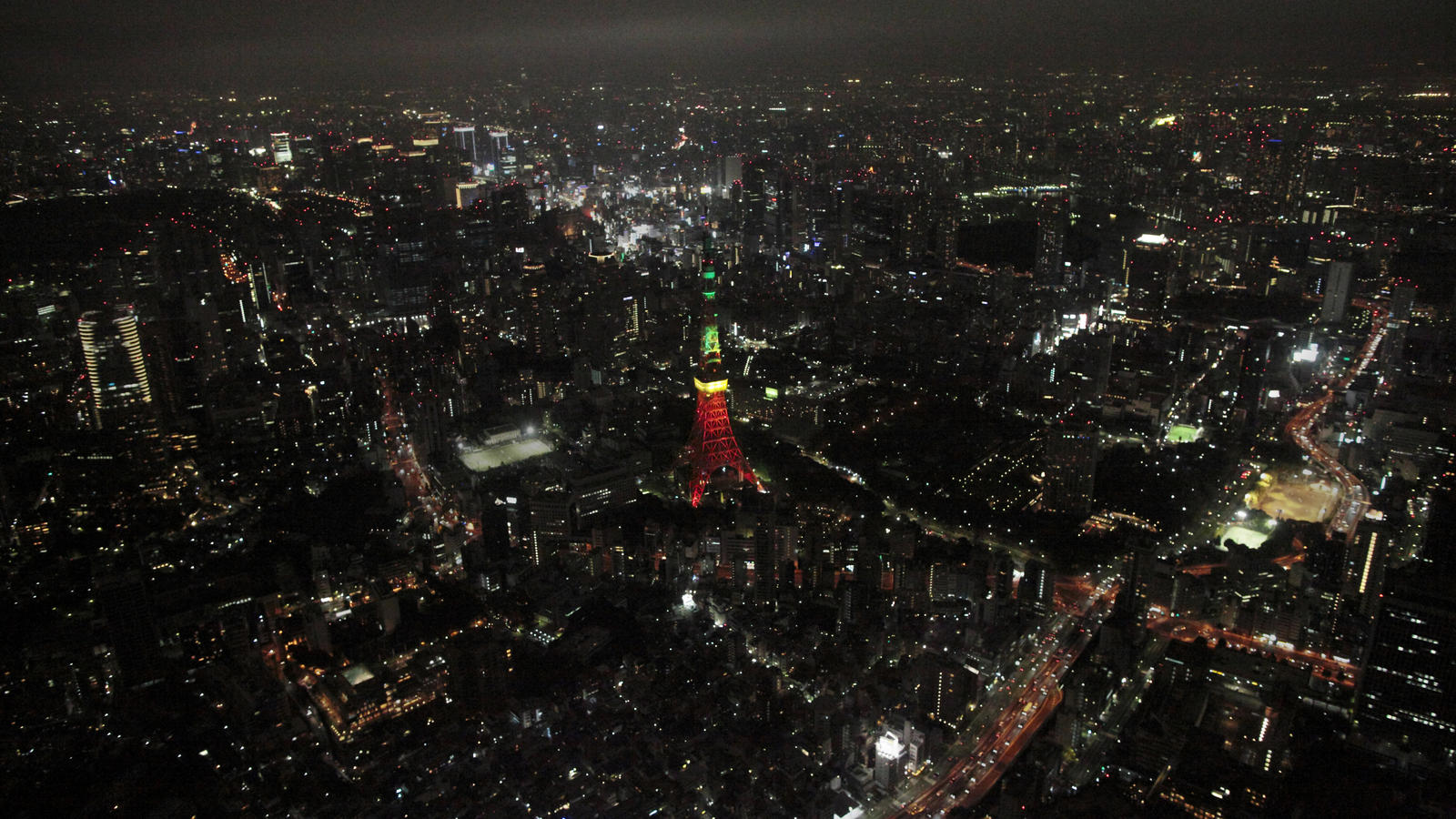 Tokyo Tower from high above