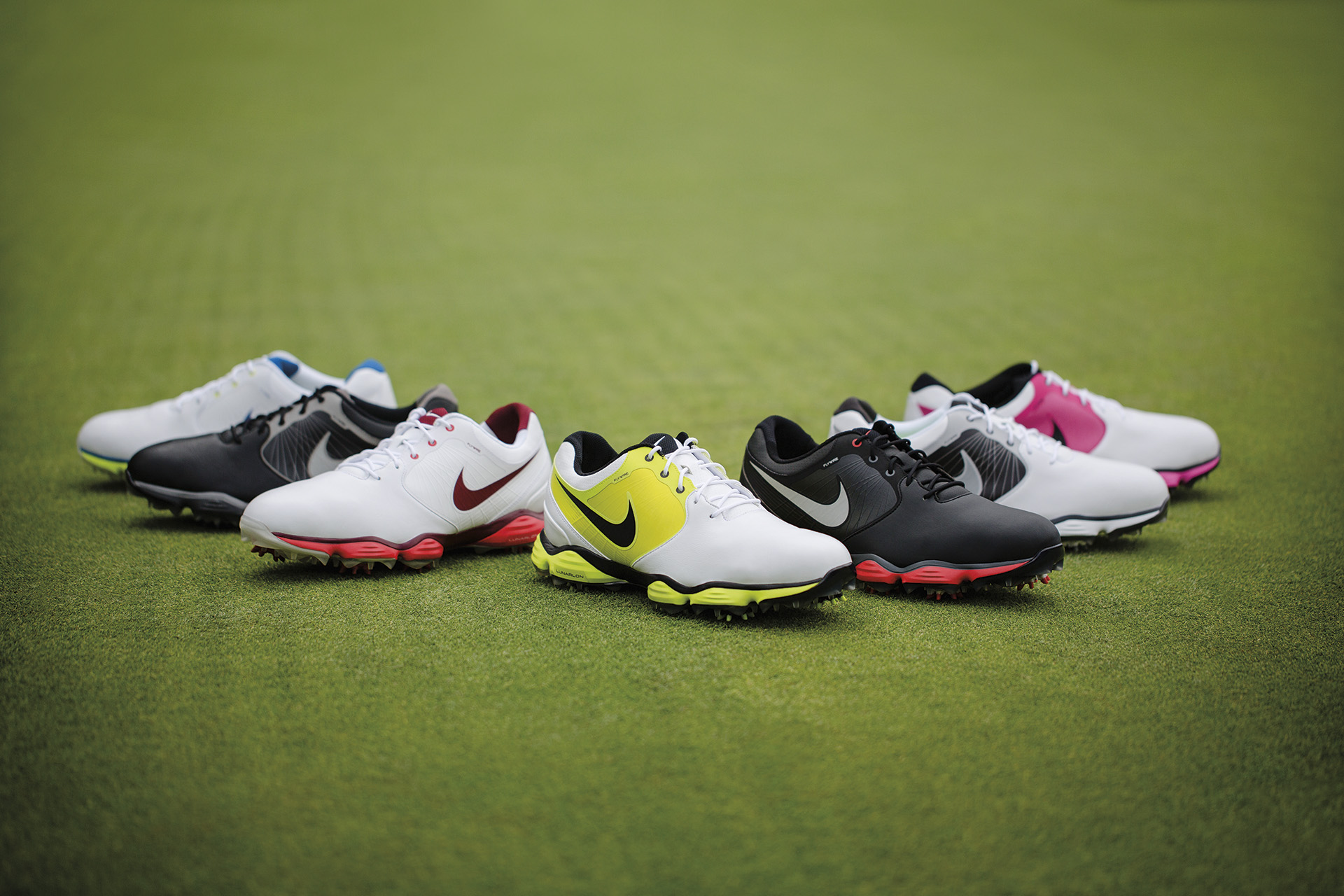sports shoes 7ac42 de753 Vibrant Colors, Lightweight Cushioning Combine in the Nike Lunar Control  Golf ...