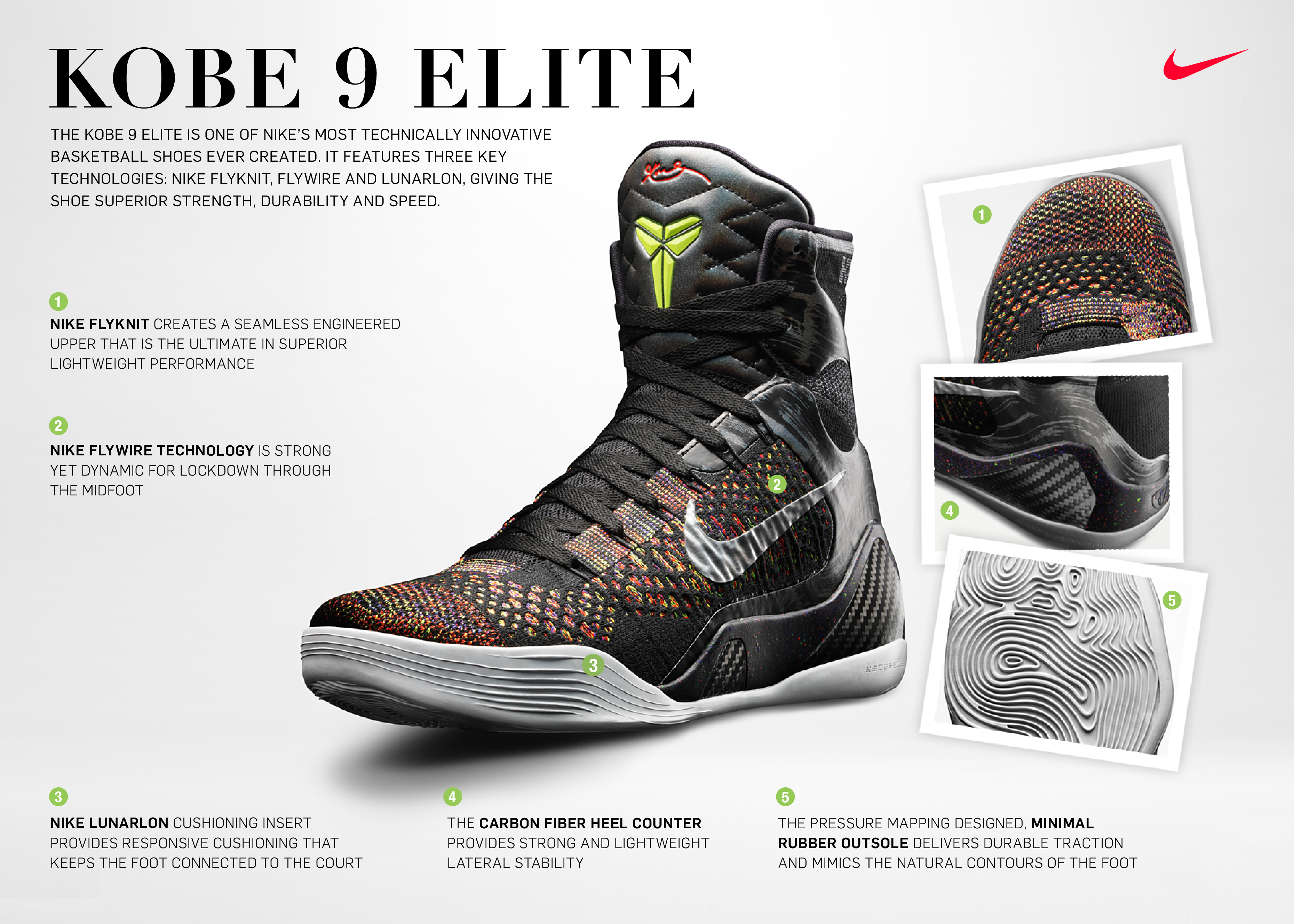 352b674f9bc Nike Redefines Basketball Footwear with the KOBE 9 Elite Featuring Nike  Flyknit - Nike News