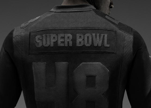 f3df36cfa The all-black Super Bowl edition of the Nike NFL Limited jersey is crafted  for exceptional durability