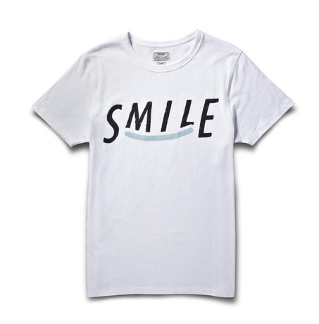 The smile tee optic white large c90ec79cce51a