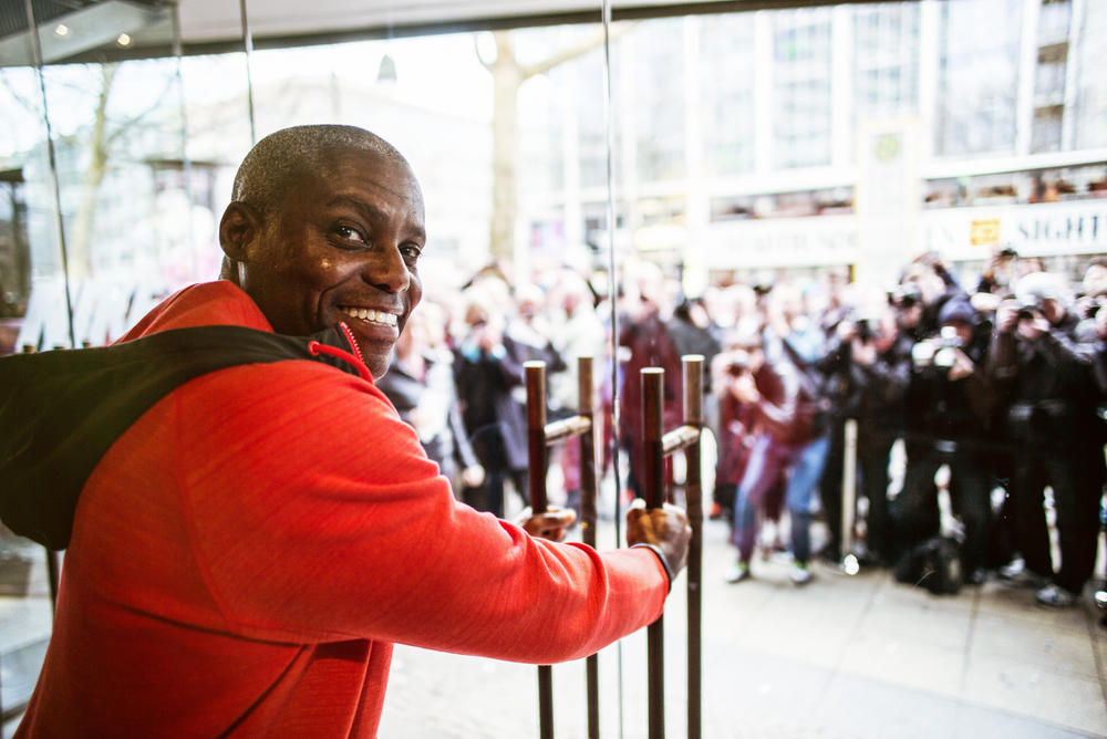 Carl Lewis Opens New Flagship Store Nike Berlin