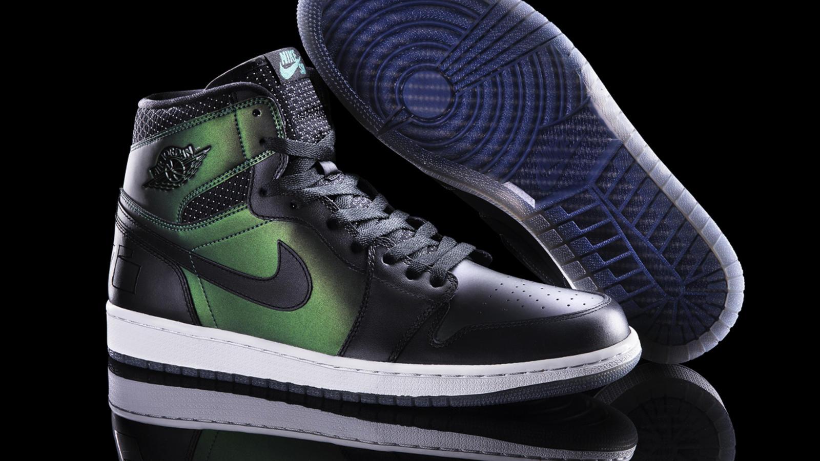 green nike jordan shoes