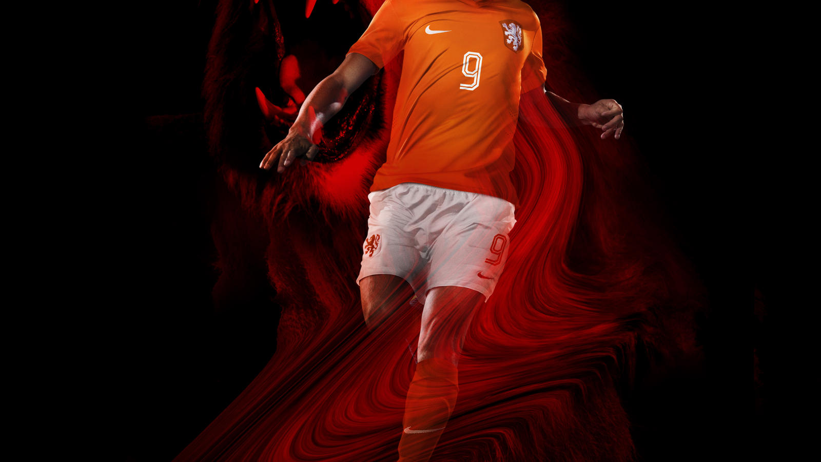 Huntelaar unveils new Netherlands home kit
