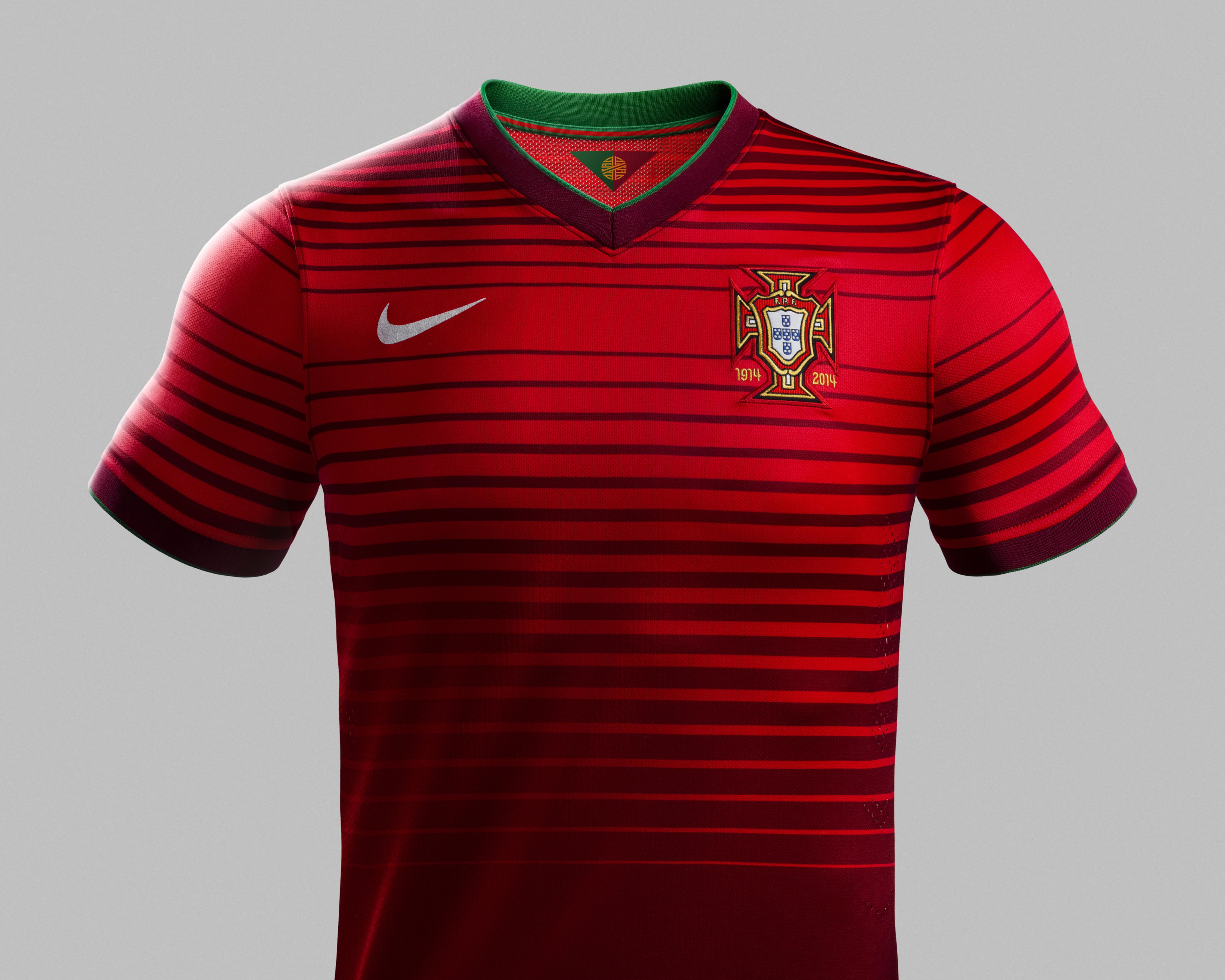 9ba908707 2014 world cup portugal 7 ronaldo home soccer shirt kit ...