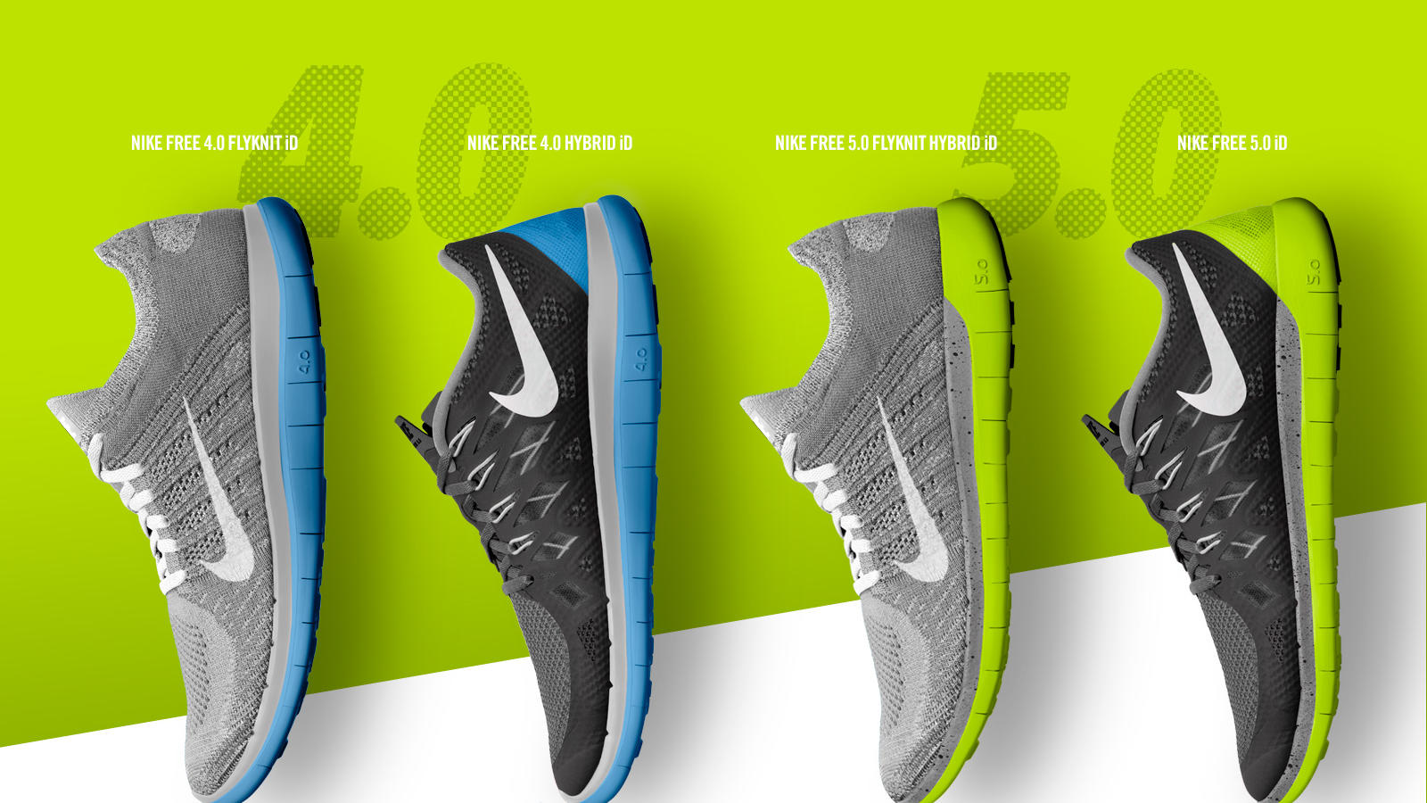 official photos 6a81e 05cb0 Women s Nike Free 4.0 Flyknit. Nike Free 2014 NIKEiD Collection