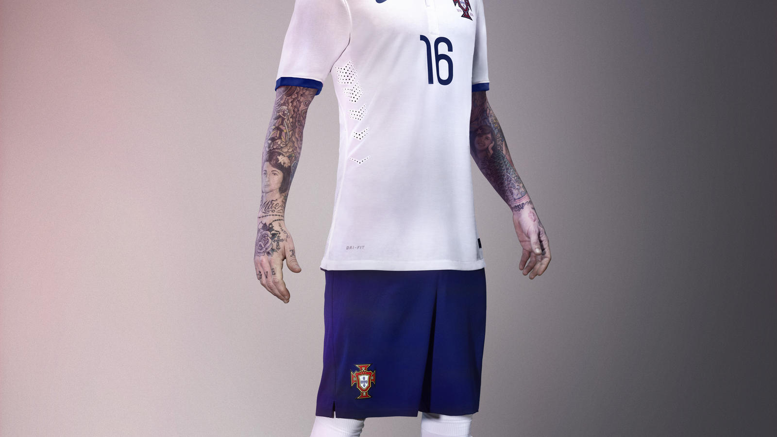 Raul Meireles in the new Portugal away kit