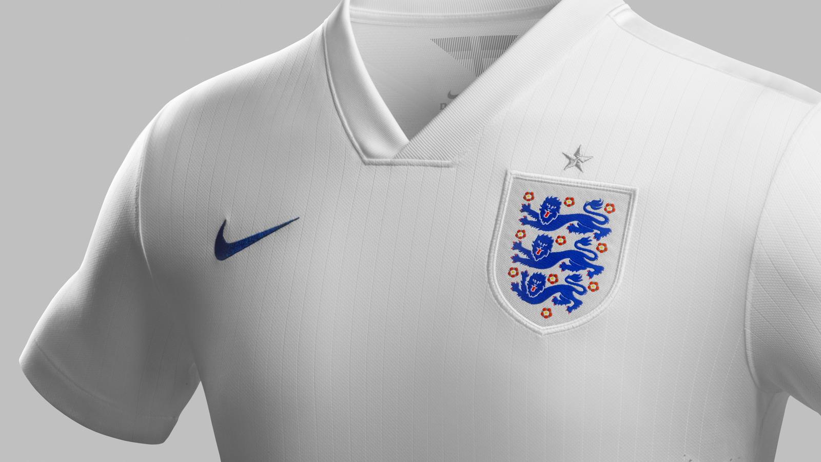 England home shirt (collar)